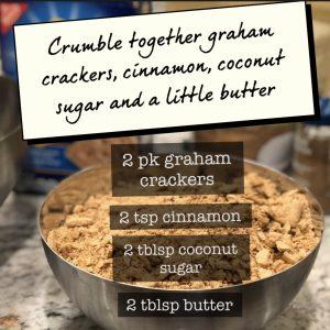 graham cracker crumbles